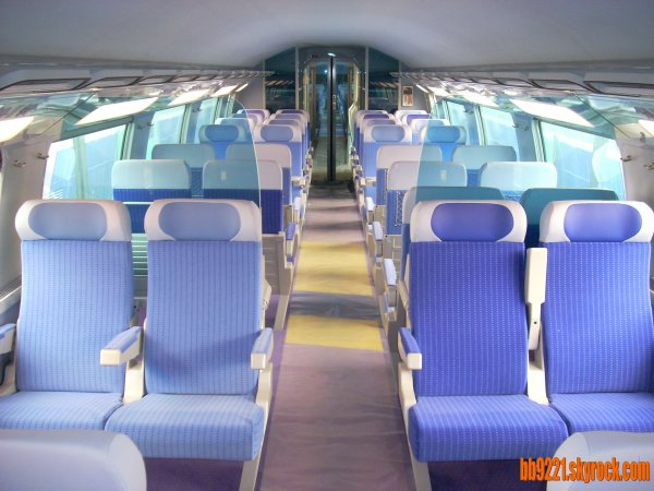 Prendre le tgv en 1 re classe avantages for Interieur tgv